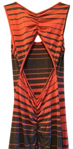 Orange and gray Maxi Dress by Liberty Love