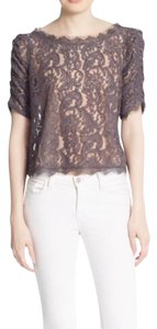 Joie Fanny Gray Lace Top