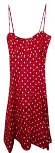 Sara u.s.a short dress Red Polka Dot on Tradesy