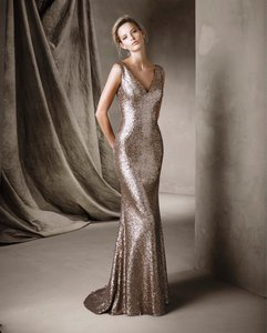 Pronovias Gold Corela Dress