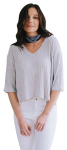 Cherish Ribbed Knit 3/4 Sleeve Sweater