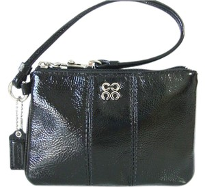 Coach Coach Julia Black Patent Leather Wristlet Clutch Bag