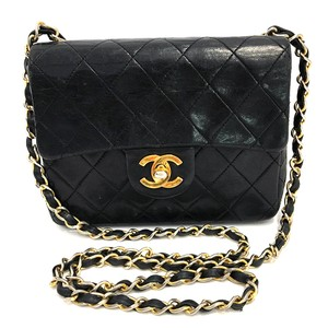 Chanel Quilted Lambskin Leather Cross Body Bag