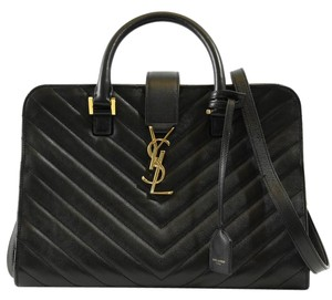 Saint Laurent Ysl Handbag Cabas Ysl 357397 Satchel in Black