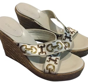 Gucci Natural/White Wedges