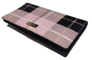 Kate Spade Stacy Plaid Pink Clutch