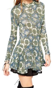 Free People Boho Bohemian Mini Dress Tunic