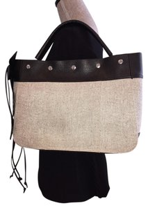 Other Black Casual Embellished Tote in Black/Beige