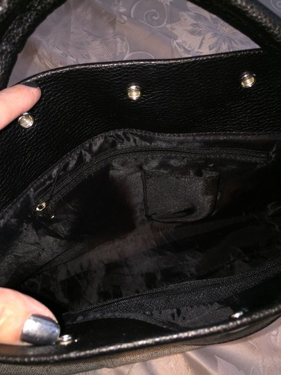 Other Bags Casual Embellished Tote in Black/Beige