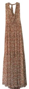 Derek Lam Georgette Full Length Halter Crepe Floral Dress