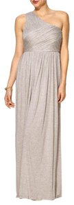 Aryn K One Sleeve Maxi Grey Dress