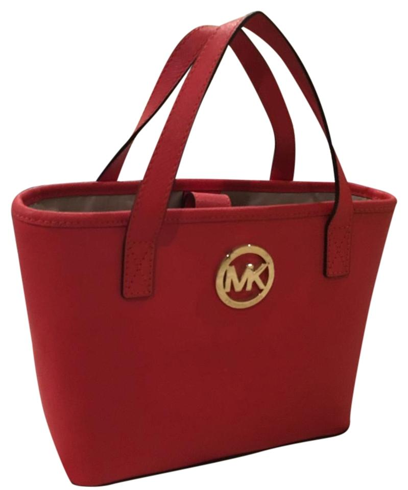 Michael Kors Tote In Red Saffiano