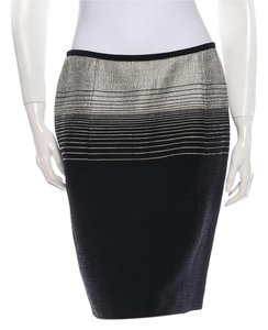 Narcisco Rodriquez Silk Skirt Black and grey