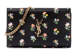Saint Laurent Multi-color Flower Woc Wallet Cross Body Bag