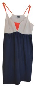 Urban Outfitters Color-blocking Red Navy Beige Dress