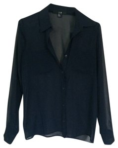 Forever 21 J Brand Rag & Bone Button Down Shirt Navy Blue
