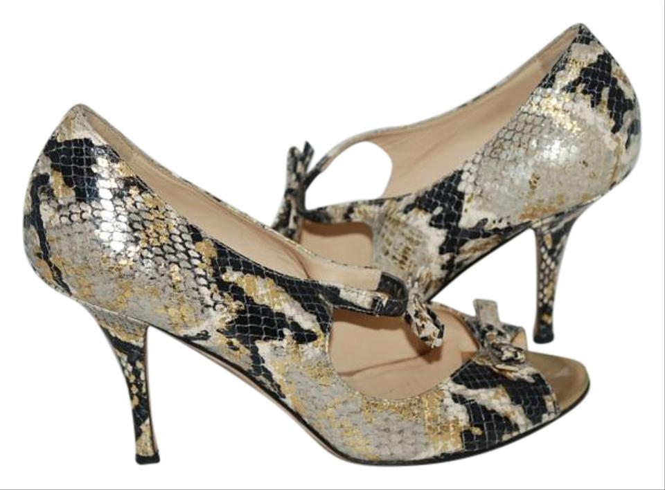 3bf9dd5bdf2 Kate Spade Animal Print Embossed Strappy Peeptoe Pump Formal Shoes Size US  8 Regular (M, B) 88% off retail
