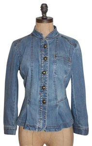 Ann Taylor LOFT Peplem Denim BLUE Womens Jean Jacket