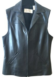 Dana Buchman Medium 100%leather Acetate Lining Top Black