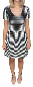 Madewell short dress Black & White Stripe on Tradesy