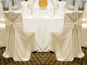 Your Choice 100 Ivory Universal Chair Covers Reception Decoration