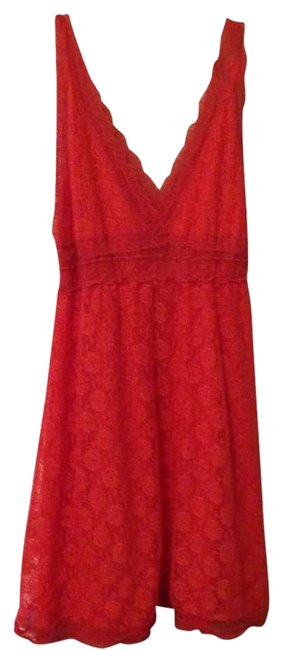 Preload https://item4.tradesy.com/images/apricot-salmon-pinky-v-neck-sleeveless-above-knee-short-casual-dress-size-12-l-1940553-0-0.jpg?width=400&height=650