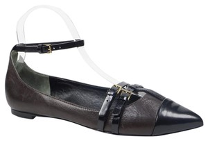 Tory Burch Shenley 8 Ankle Strap Brown Flats