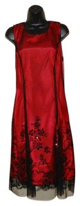 Coldwater Creek Sleeveless Flowered Glitter Nylon Dress