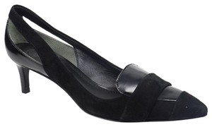 Tory Burch Saray 7.5 Suede Pointed Toe Black Pumps