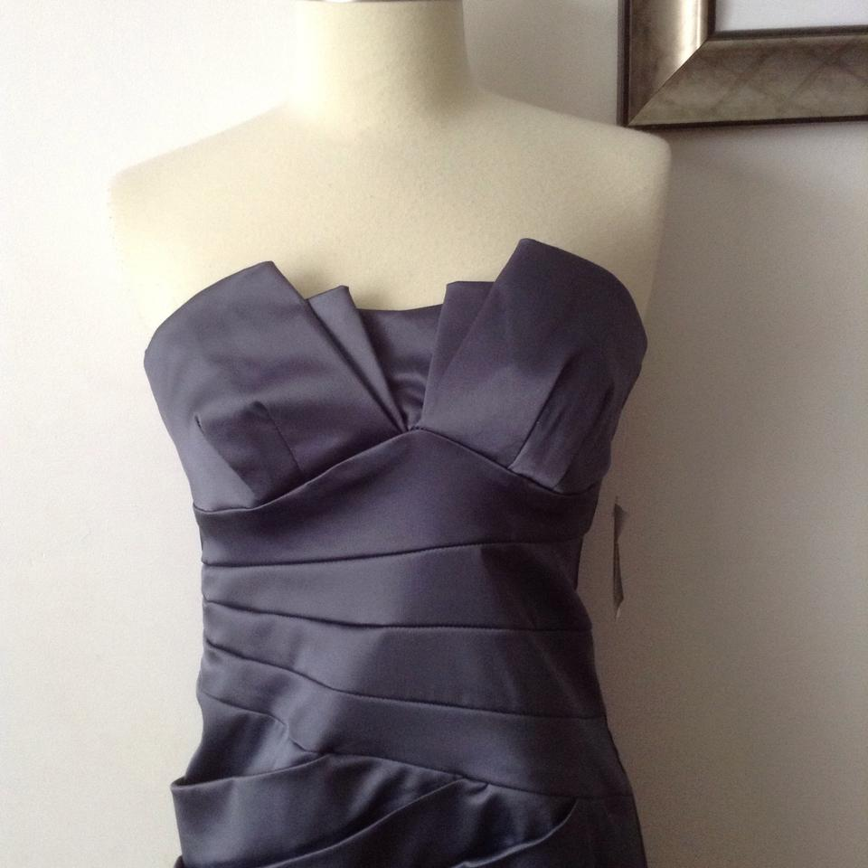 Teeze Me Gunmetal Strapless Above Knee Cocktail Dress Size 4 (S ...