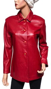 St. John Leather Red Leather Jacket