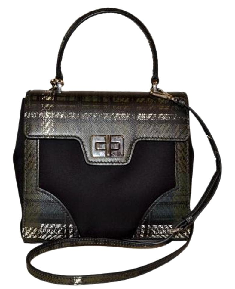 0c01db61334c Prada Mini Shoulder Black Green Tartan and Saffiano Leather Cross Body Bag