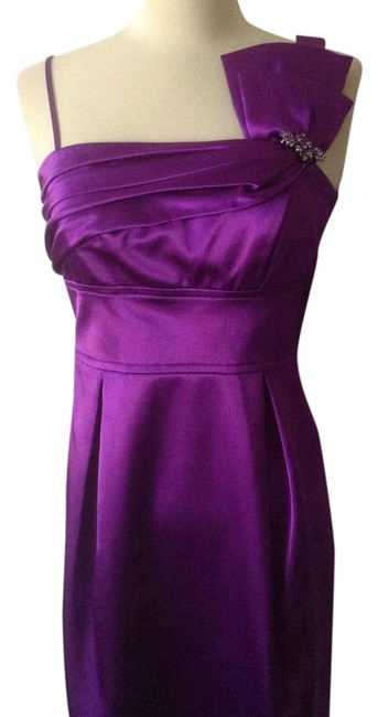 Item - Purple One Shoulder Above Knee Cocktail Dress Size 8 (M)