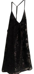 Alice + Olivia Lbd Velvet Cocktail Open Dress