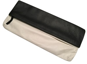 Jennifer Haley Leather Black x White Clutch