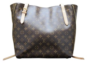Louis Vuitton Monogram Canvas Leather Voltaire Tote in Brown