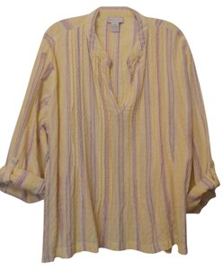 Soft Surroundings Plus Embroidered Linen Knit Tunic