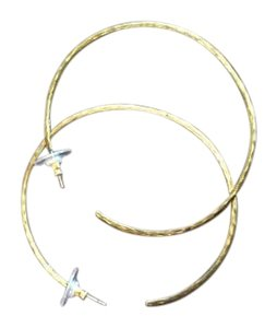 Silpada Gold hammered loops