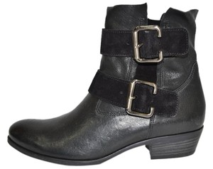 Paul Green Bootie Wedge Boot Moto black (suede and leather combo) Boots