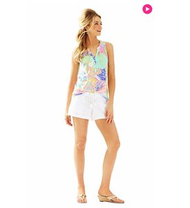 Lilly Pulitzer Essie Roar Of The Seas V-neck Top Multi