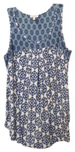 Weston Wear Anthropologie Knit Top Blue & white