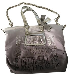 Coach Bling Logo Tote in Gray/Silver