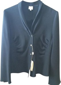 Armani Collezioni Made In Italy 72% Acetate 28% Silk Extra Button Button Down Shirt Black