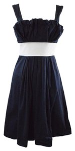 Vera Wang Lavender Label short dress Dark Blue/White on Tradesy