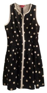 Betsey Johnson short dress Black and white Polka Dot Zipper A-line Retro on Tradesy