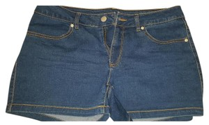 Faded Glory Mini/Short Shorts Medium Wash Denim