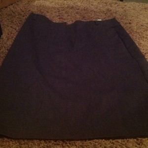 Express Straight Hits Above The Knee Stretch Lkke New Skirt Gray