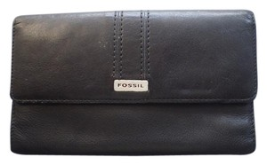 Fossil Fossil Wallet Black Leather Bifold