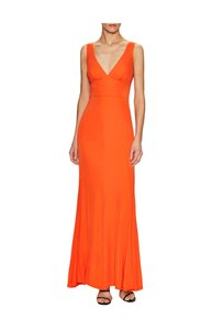 A.B.S. by Allen Schwartz Jersey Maxi V-neck Dress