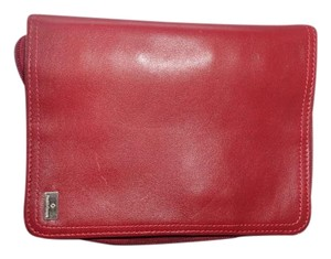 Franklin Covey Day Planner/6-Ring Binder Organizer Red Leather